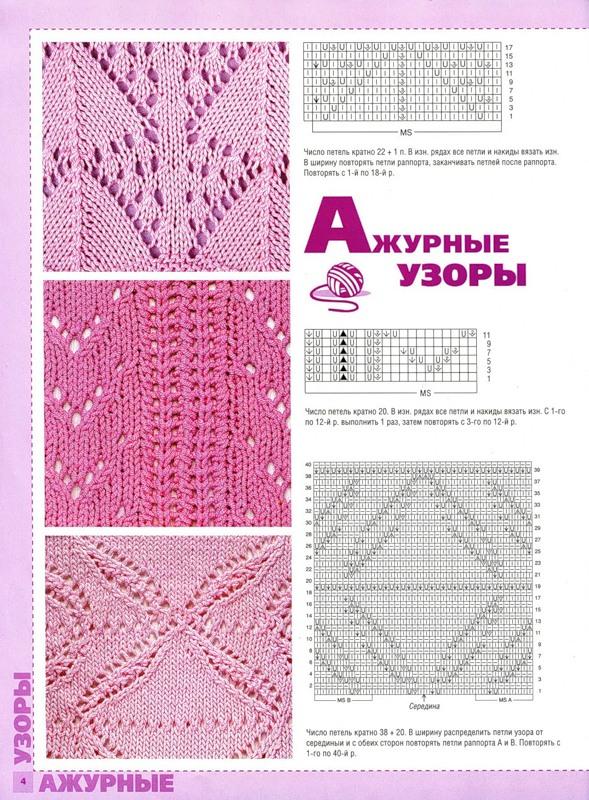 Вязание на спицах из журналов схемы