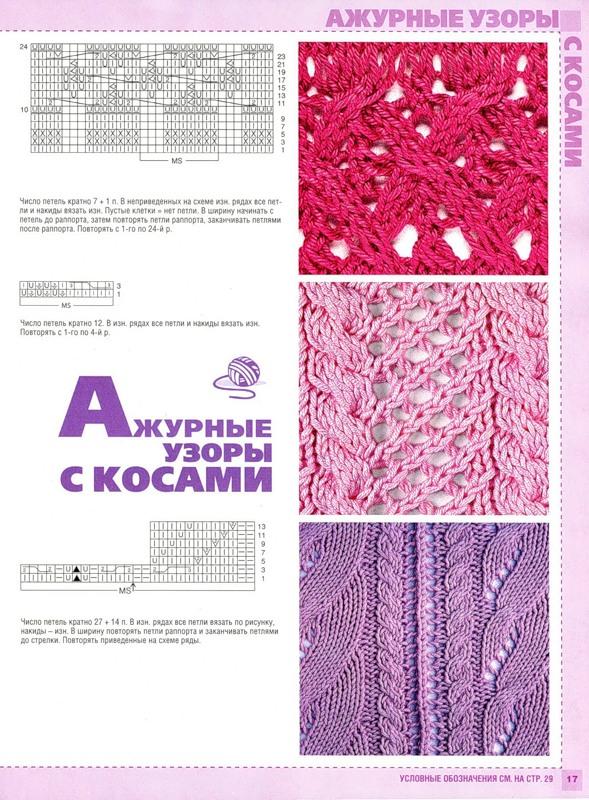 Журналы с описанием узоров по вязанию