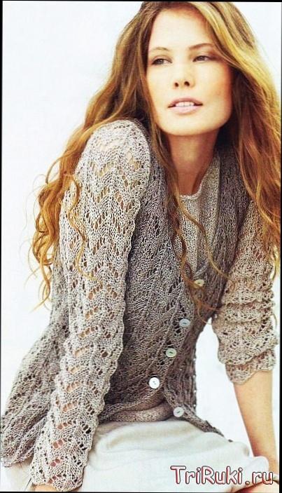 и пуловер вязаные спицами