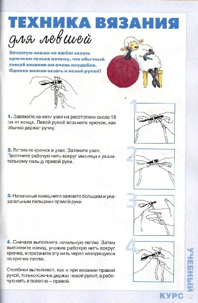 Крючок ручного вязания