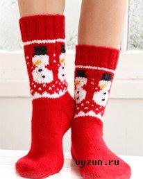 Новогодние носки вязать