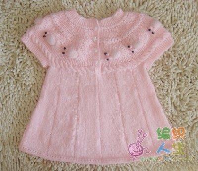 Детские платья спицами мк