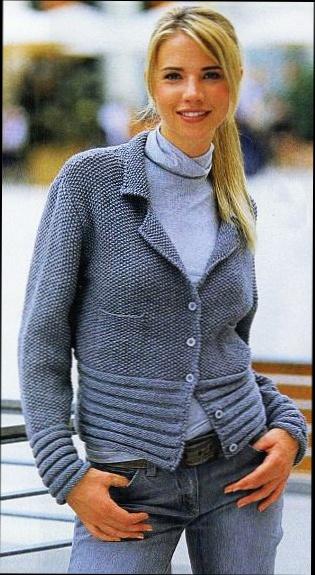 Жакет с нагрудными карманами.