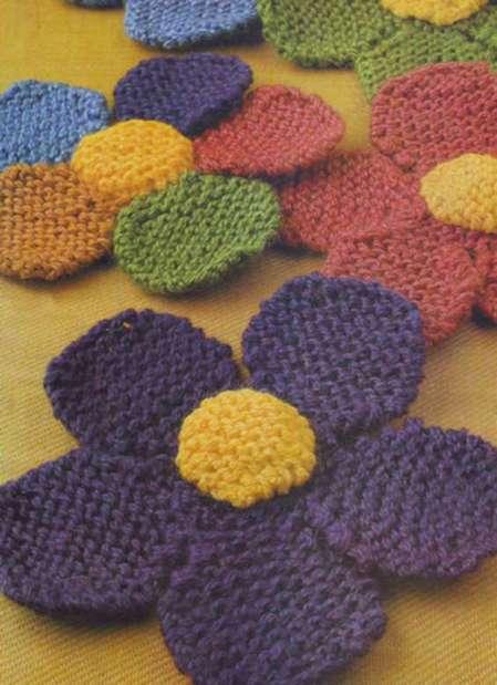 Вязаный цветок спицами вязание узоры