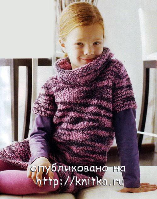 вязаная вязаное платье для девочки вязание детей схема вязания