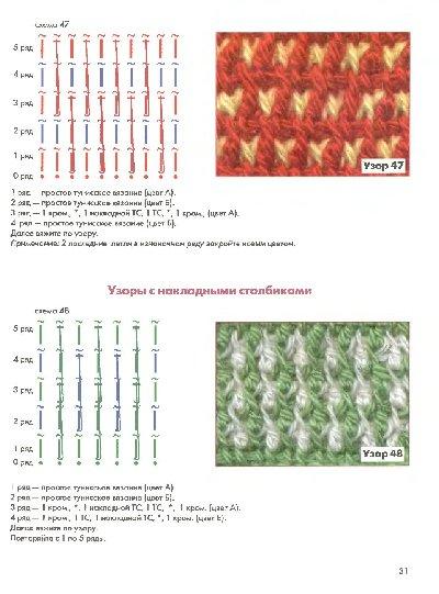 схемы тунисского вязания