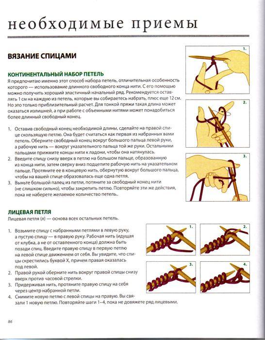 уроки вязания спицами таблица размеров схема вязания фото описание