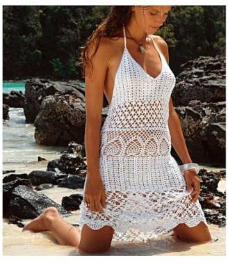 Пляжные платья крючком схемы и описание