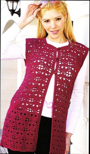 Фото вязаного жилета