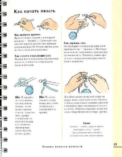 Научится читать схемы для вязания крючком