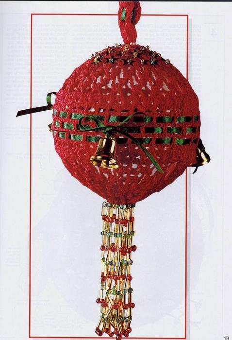 Вязаный на елку шар к новому году, вязание, новый год 2012 ...