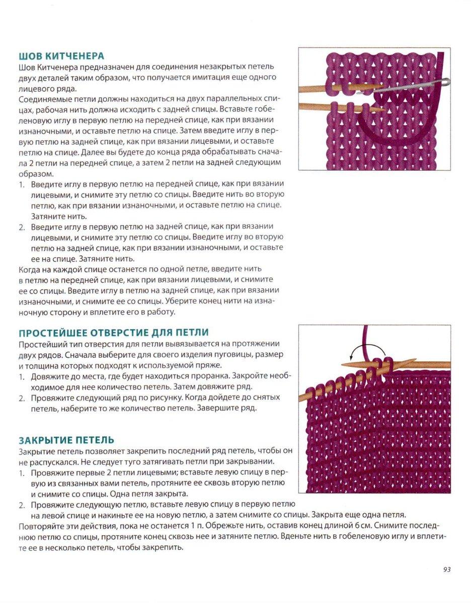 Уроки вязания спицами, таблица размеров - схема вязания, фото, описание