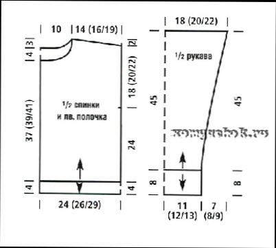 Схема вязания жакета тунисское вязание фото описание.