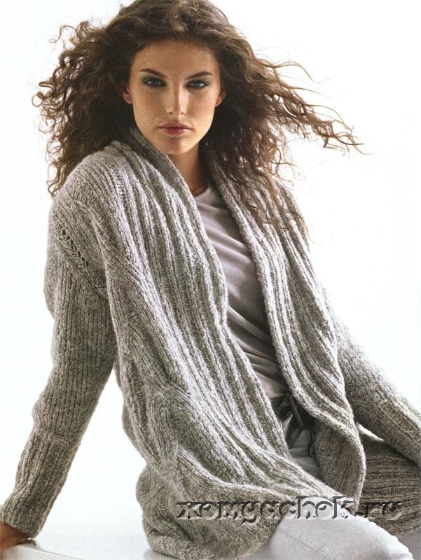 Схема вязания женского серого