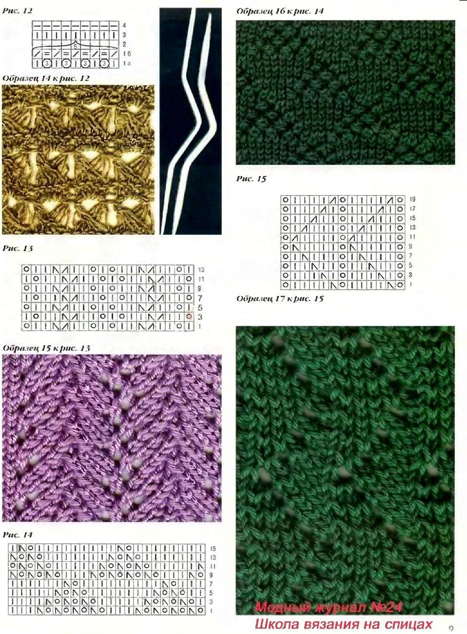 Шарф снуд-хомут схема вязания спицами - Мой секрет 60