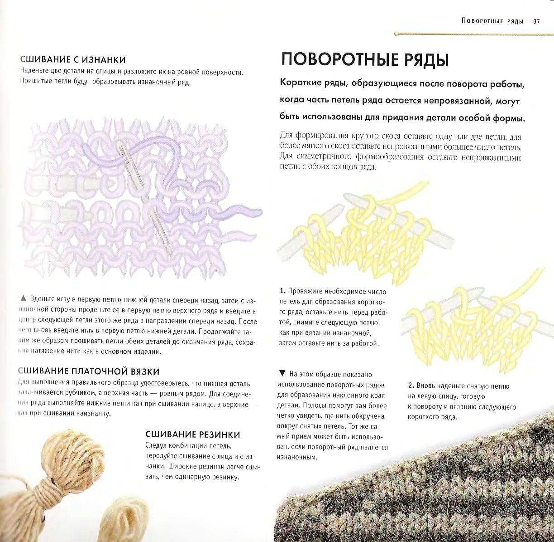 Как поворачивать вязание крючком