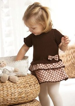 Комбинированные детские платья