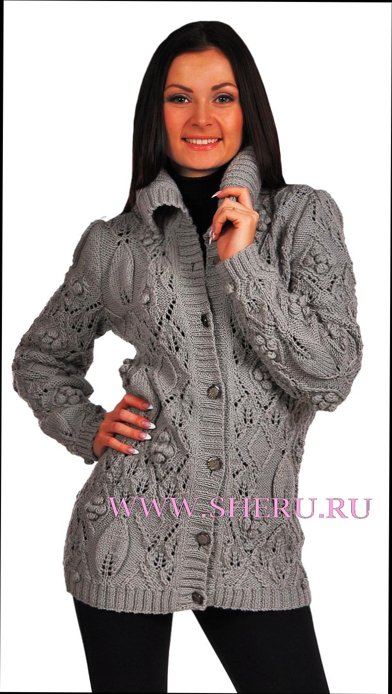 пуловер вязаный спицами схема и описание