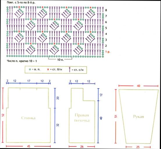 Ажурный узор спицами павлин схемы и описание Вязание.