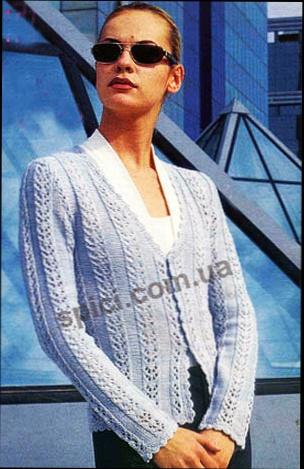 Блузки вязаные для женщин схемы 125