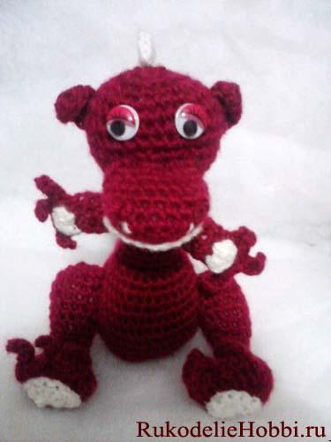 Дракон крючком вязание фото
