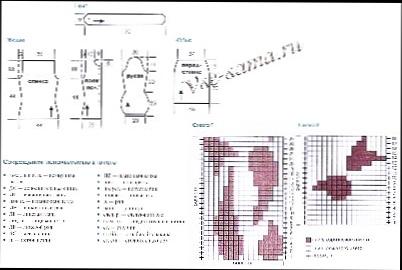 Схема вязания жакета и юбки