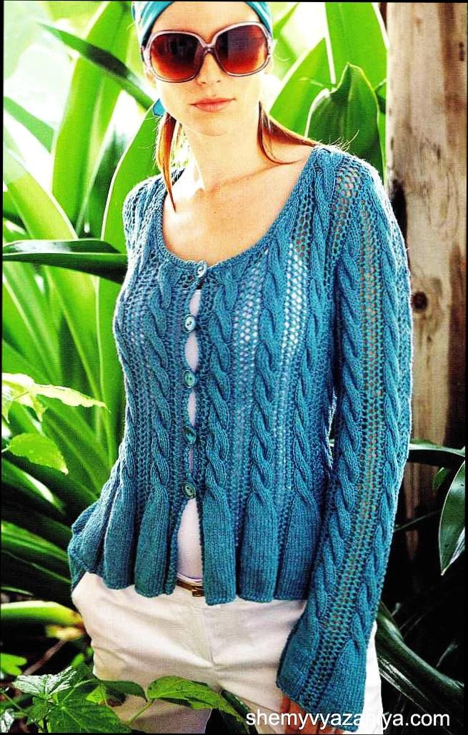 Елена вязалочка вязание спицами жакеты 27