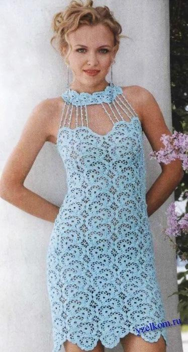 Ажурное платье крючком Баллада