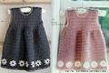 Вязанное детское платье для девочки